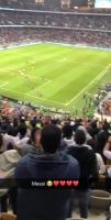 梅西进球后全场球迷高呼:梅西