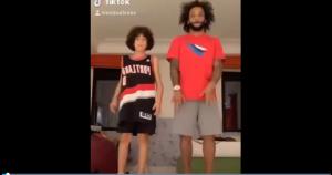 欢乐!马塞洛和儿子共舞