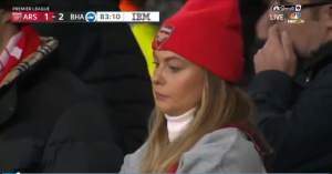 不滿意!阿森納美女球迷不滿球隊表現