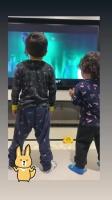 安妞看乐!梅西两儿子学跳舞