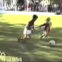 从小就厉害!看小时候的梅西踢球