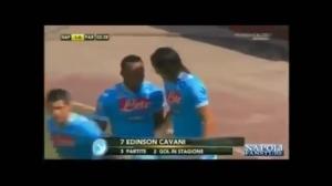 意甲风采!卡瓦尼那不勒斯20大进球