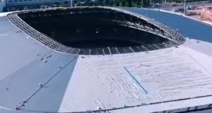 固定坐席33765个!浦东足球场航拍视频来了