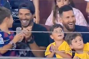 公开支持对手!梅西儿子马特奥的反应看一次笑一次