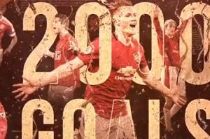 曼联发布英超2000球纪念视频