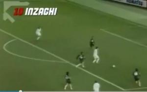 将战旧主AC米兰,回顾因扎吉米兰生涯的十佳进球!