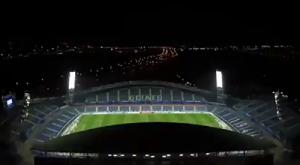 马德里上空俯瞰阿方索-佩雷斯球场