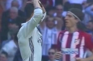 马德里德比名场面之,萨维奇门线解围C罗必进球