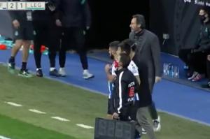 武磊西乙替补出战6分钟 胸部停球+转身传球