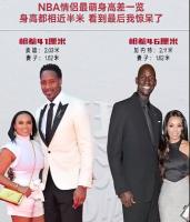 NBA情侣最萌身高差一览