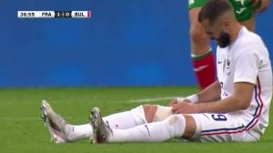欧洲杯开赛在即 本泽马友谊赛因伤退场