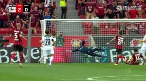 德甲-5分钟造2球希克迪亚比分别建功 勒沃库森4-0门兴