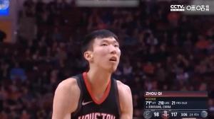 周琦火箭生涯集锦 回顾昔日NBA短暂之旅