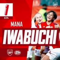 阿森纳官方8月最佳进球!女队岩渊真奈世界波