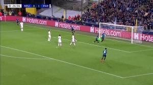 瓦纳肯禁区内推射门破门 布鲁日1-1巴黎扳平比分